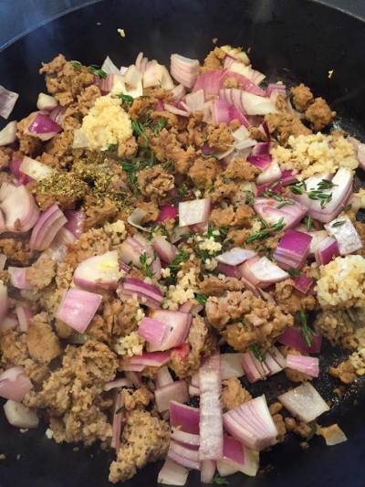Turkey Sausage Cauliflower Casserole