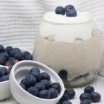 Porridge cocco e mirtilli