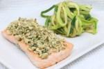 Filetto di salmone e spaghetti di zucchine