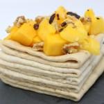 Crepe alla vaniglia e mango