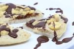 Piada pancake banana e cioccolato