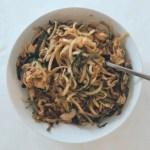 Ragù di merluzzo e spaghetti di zucchine