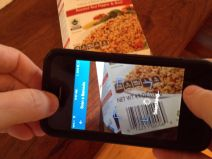 scanning food with myfitnesspal