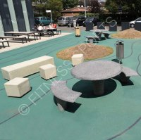 Natural Granite Outdoor Public Seating Area Table ...