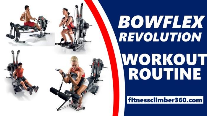 bowflex revolution workout routine plan