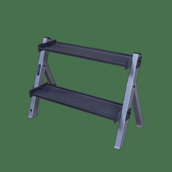 body solid dual dumbbell kettlebell rack gdkr100
