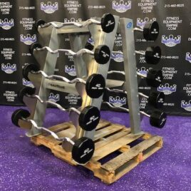 buy used gym dumbbell set weights