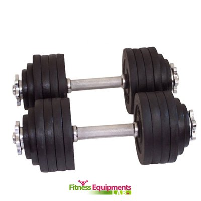 One Pair of Adjustable Dumbbells Kits 200 Lbs