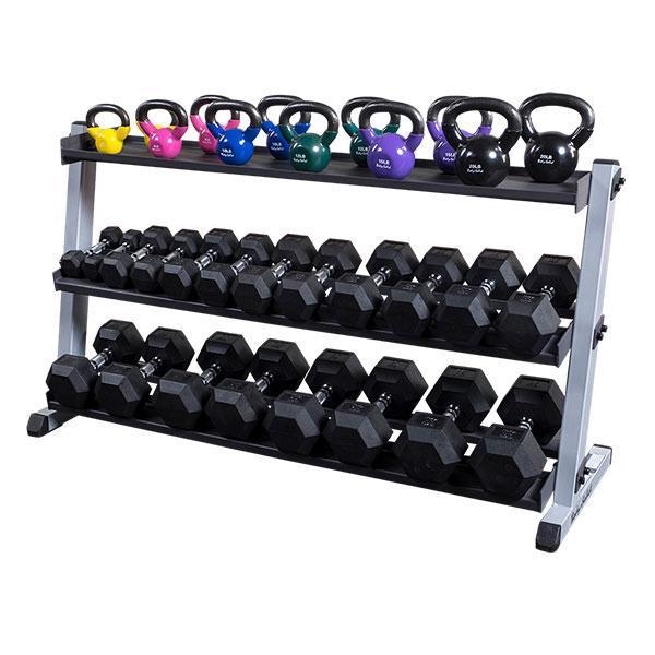 dumbbell storage shelf for the gdr60 rack