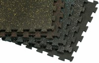 Recycled Rubber: Tile Lok | Fitness Finishes