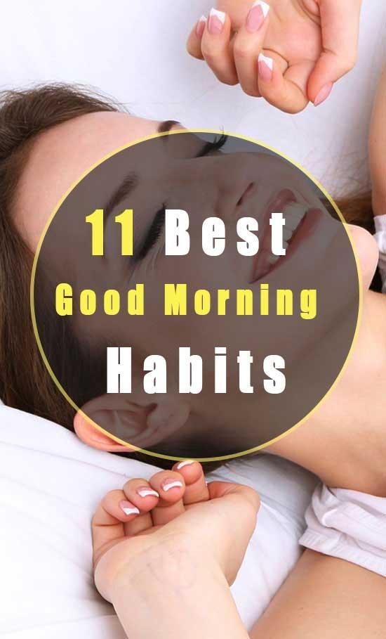 good morning habits