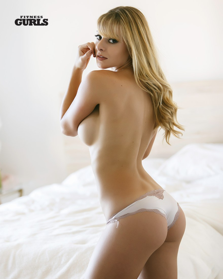 Savannah Lynx topless and white bottoms