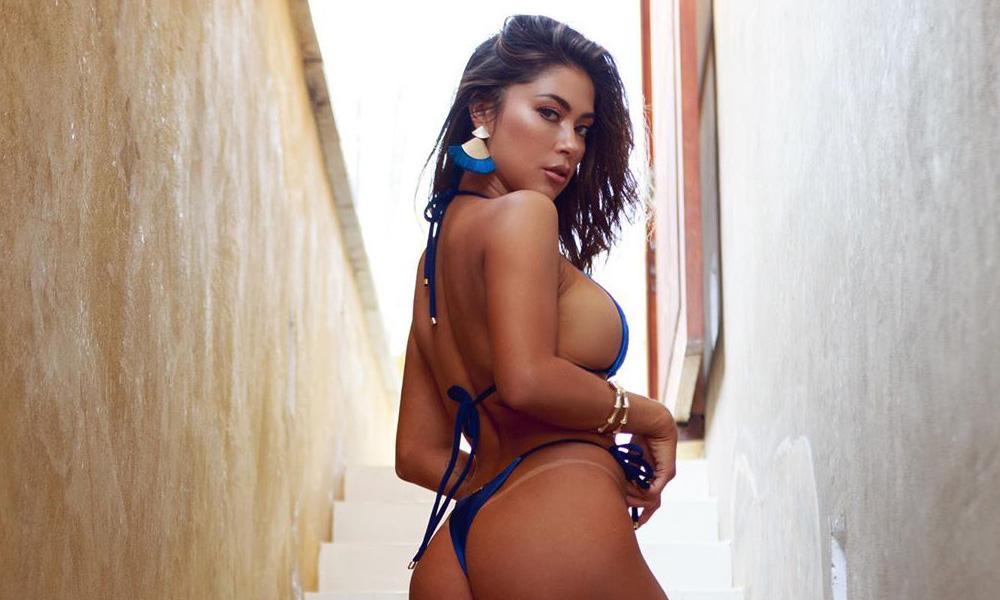 Arianny Celeste Blue Bikini Goddess in Mexico