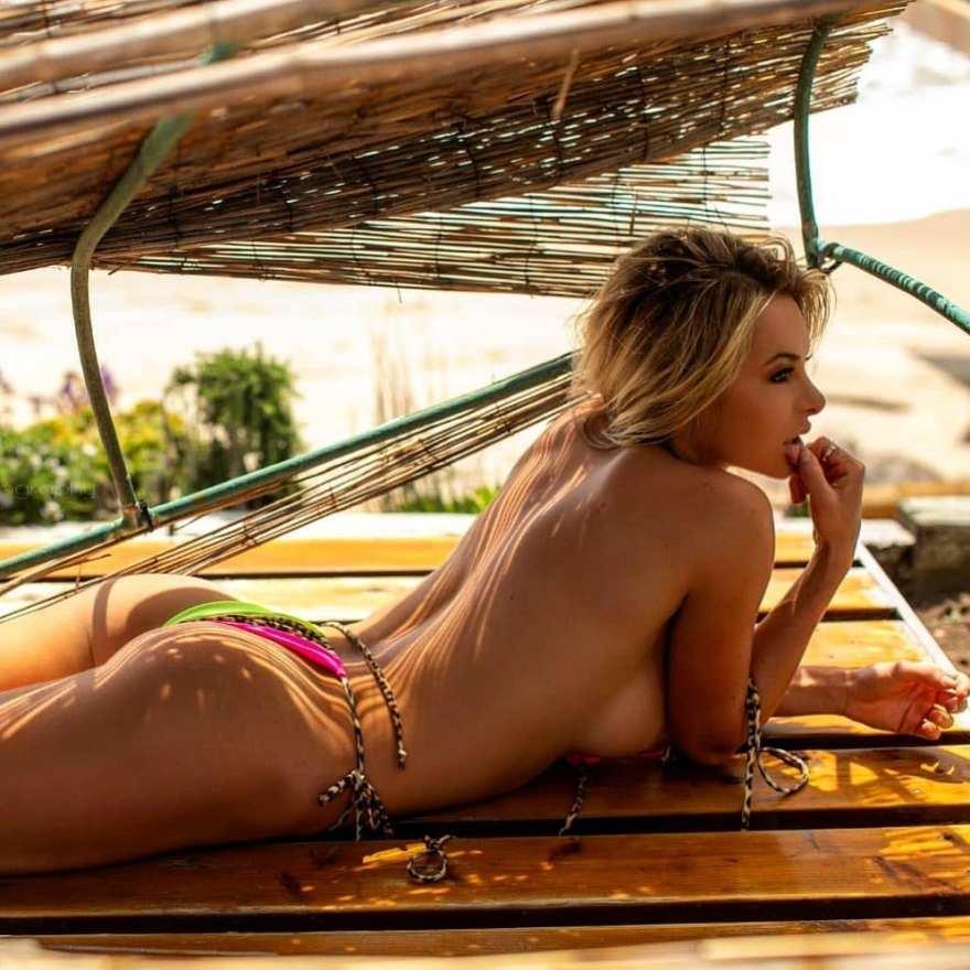 Savannah Lynx topless bikini for Fitness Gurls Magazine