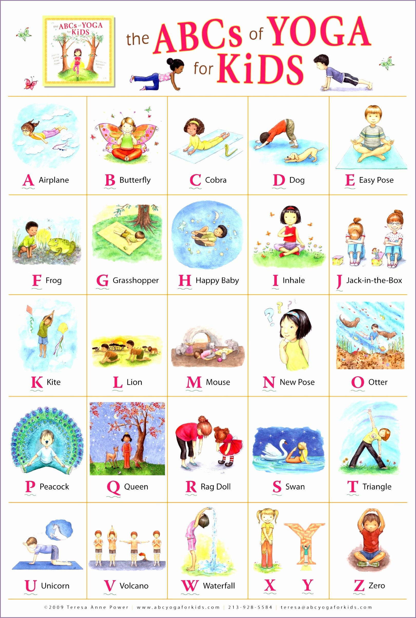 photograph regarding Yoga Poses for Kids Printable named yoga poses for children printable