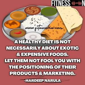 Healthy Diet Quote by Hardeep Narula - Fitness HN