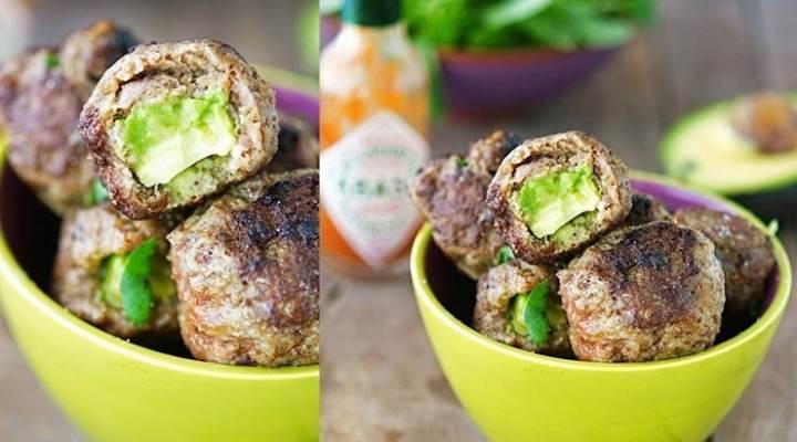 Mit Avocado gefüllte Fleischbällchen 4