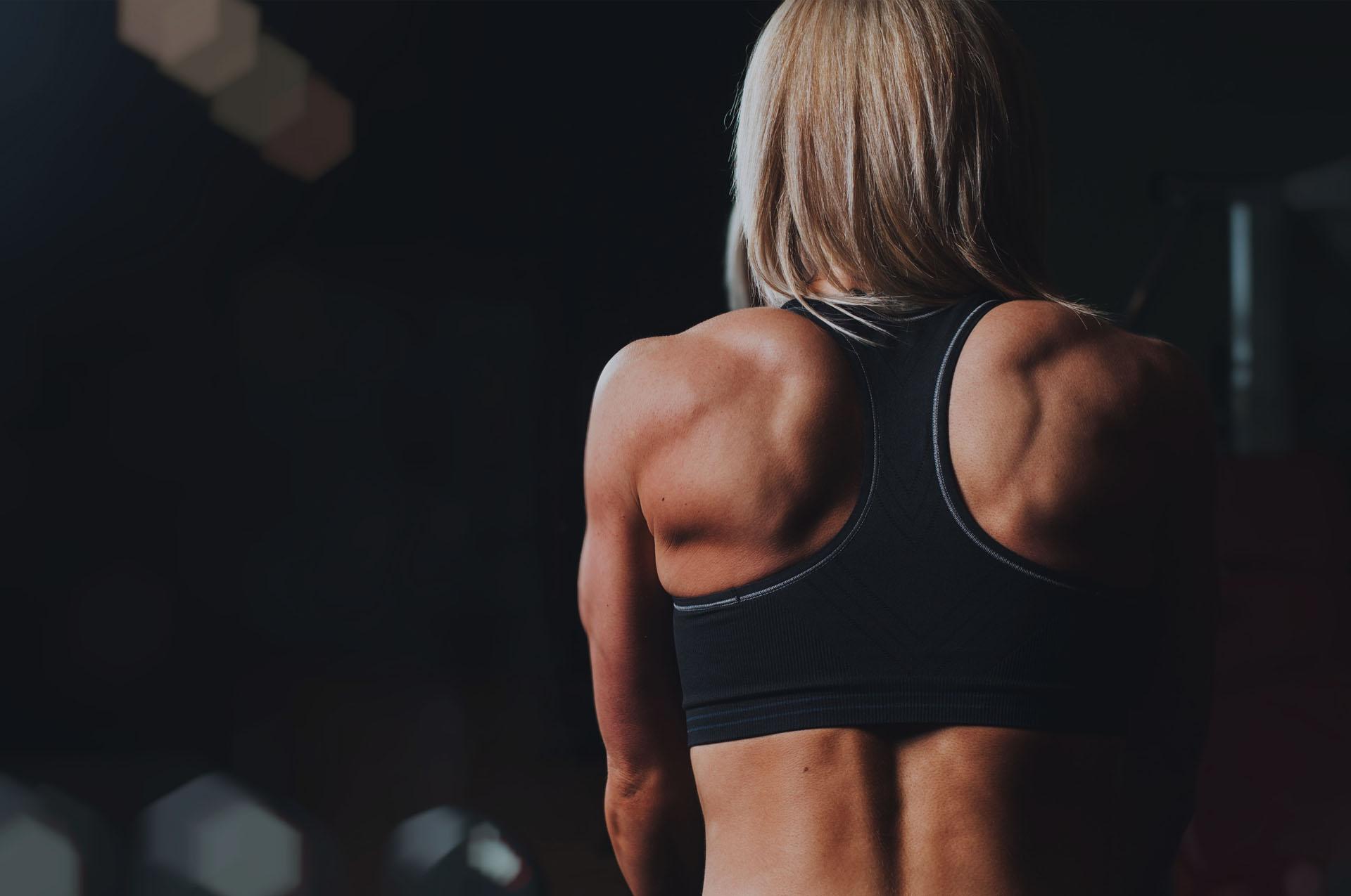 Fitnessmensch Slider Hintergrund