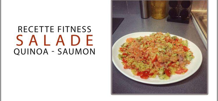 Recette fitness salade quinoa saumon