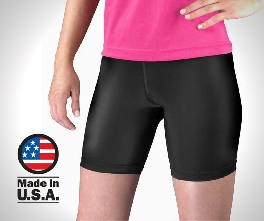 Aero-Tech-Womens-Compression-Bike-Shorts-Classic-Fitness-Short-Made-in-USA