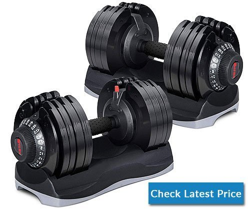 Merax Deluxe 71.5 Pounds Adjustable Dial Dumbbell with Weight Plate for Home Gym