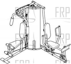 Weider Pro 4250 Home Gym Assembly Instructions