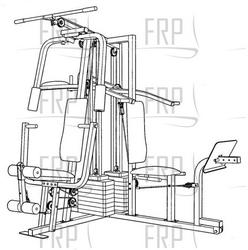 Weider Pro 9940 Home Gym Workout Routine Picture