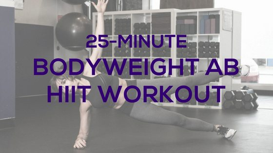 Bodyweight Ab HIIT Workout