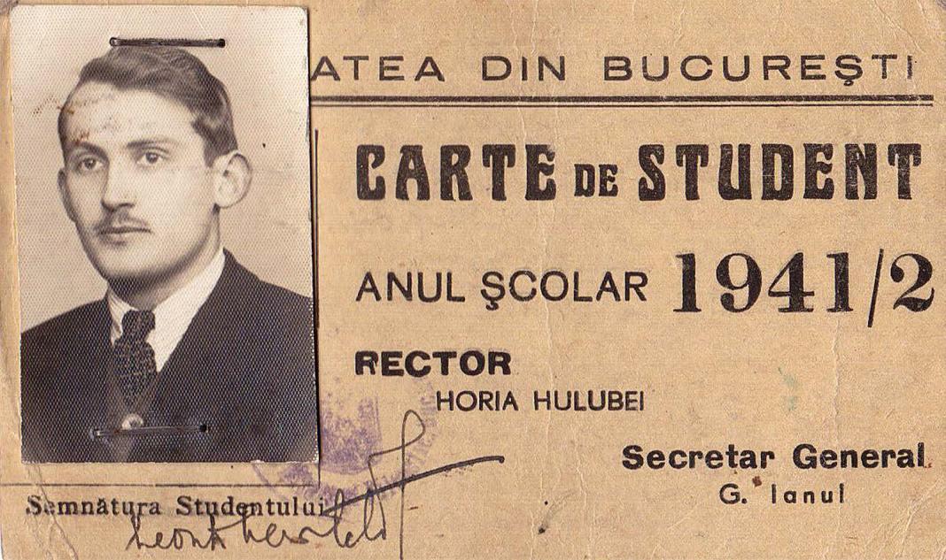 Carnet de student, Leon D. Levițchi (1918-1991)