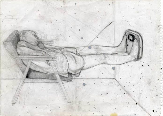 Weight, 29x21, pencil on paper, 2011 © Rastislav Podhorský