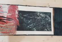 © Luminița Coșăreanu, Război, carte legată manual, materiale textile hârtie fabricată manual - MNLR, Bienală de carte bibliofilă și de carte obiect