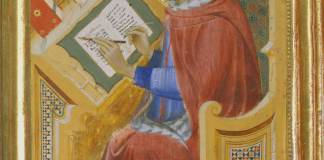 Benedetto di Bindo/Philadelphia Museum of Art, Pennsylvania/John G. Johnson Collection, 1917/Bridgeman Images Detail of Saint Jerome translating the Gospel of John, circa 1400