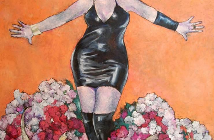 Marilena Murariu, Oculta eroilor, din seria Portrete în revoluție, ulei pe pânză, 130x150 cm, 2011, courtesy Năsui Collection
