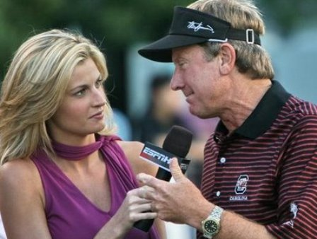 Erin Andrews and Steve Spurrier. One will be at the Outback Bowl.