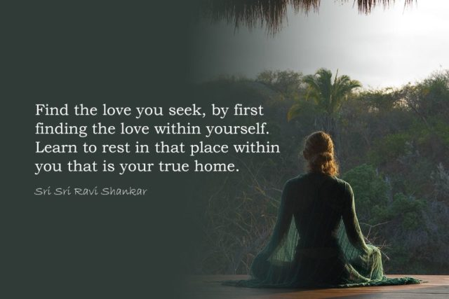 Love Yoga Quote - Find the love you seek