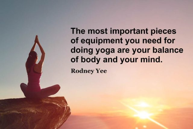 Yoga quotes about balance - The most important pieces