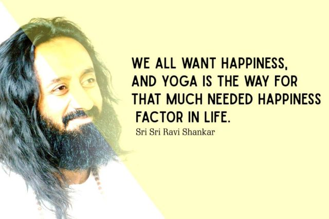Happiness Yoga Quote - We all want happiness