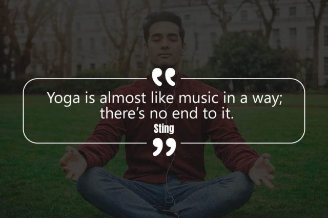Happiness Yoga Quote - Yoga is almost like music