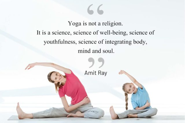Inspirational Yoga Quote - Yoga is not a religion