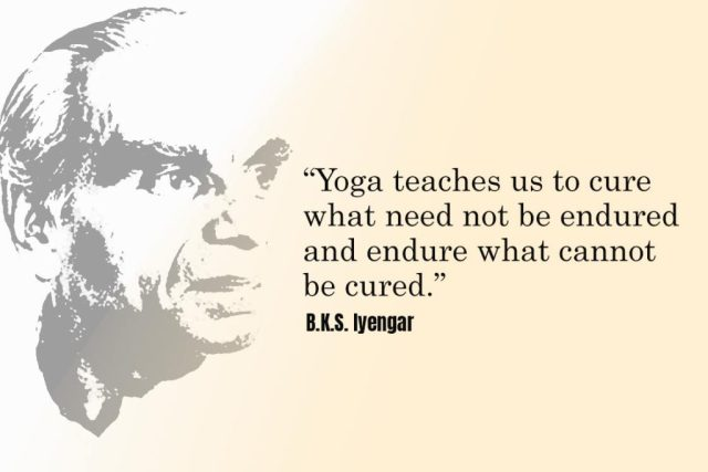 Inspirational Yoga Quote - Yoga teaches us to cure