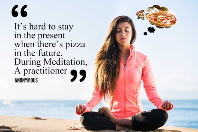 Funny Yoga Quote - it's hard to stay