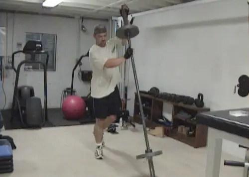 Quadricep Exercise - Shoulder Barbell Split Squats