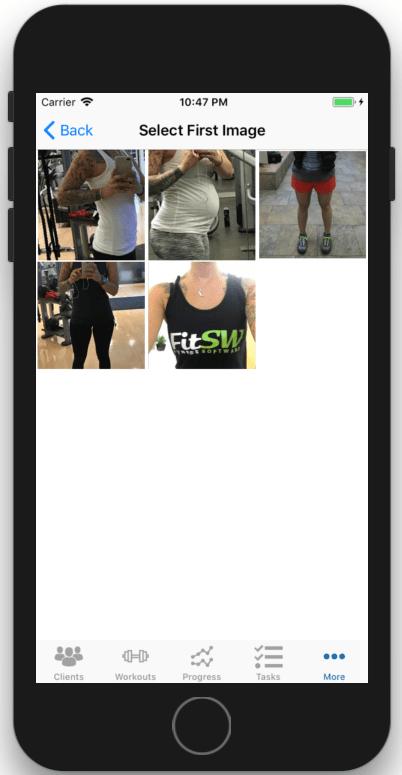 Fitness Progress Photo Comparison Select First Image