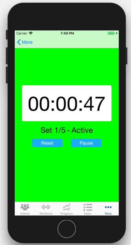 iOS Interval Timer App Personal Trainers Stand Alone