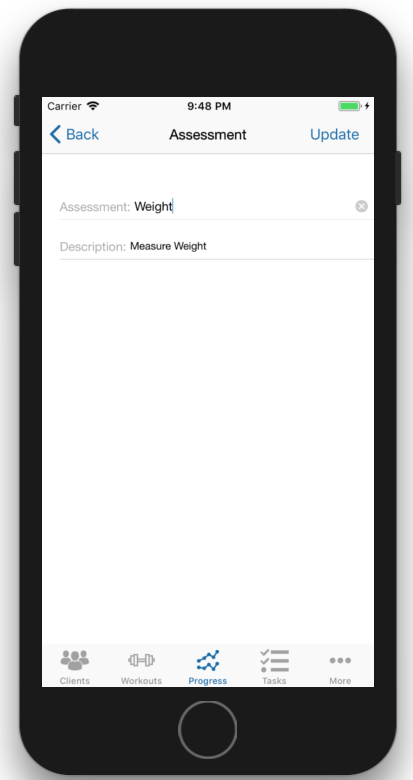 Client Fitness Progress Tracking Update Assessment