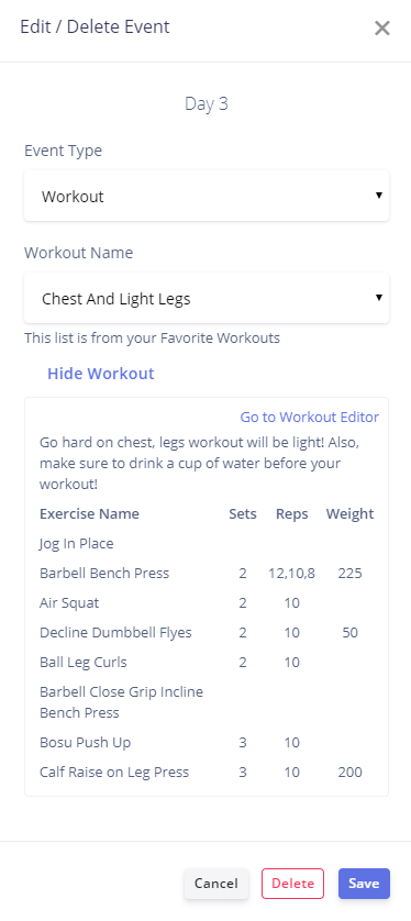 personal trainer workout program