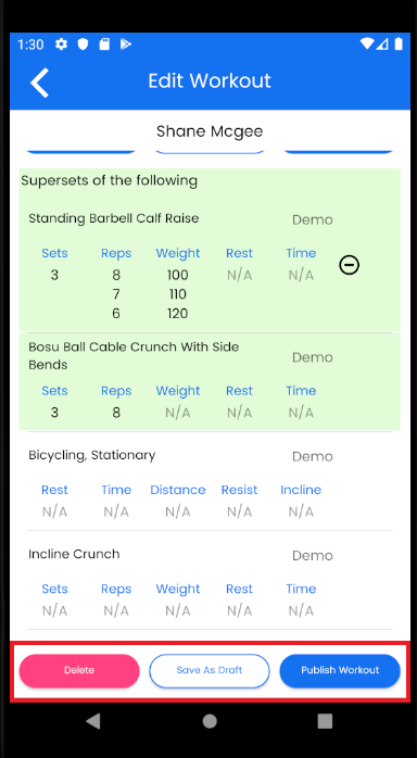 android app for trainers drafting update
