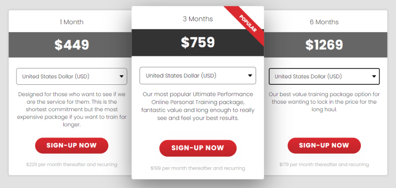 Pricing Options for Ultimate Performance