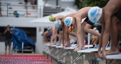 Competitive swimmer to exemplify athletic training.