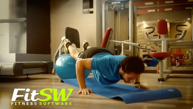 Decline Pushups with Exercise Ball